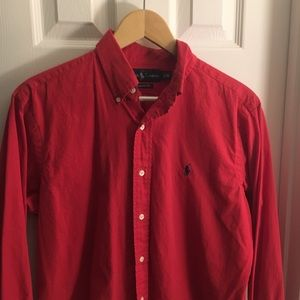 Polo Ralph Lauren Red Classic Fit Button Down